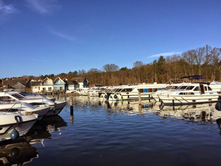 Hausboottour auf der Mecklenburgische Seenplatte.