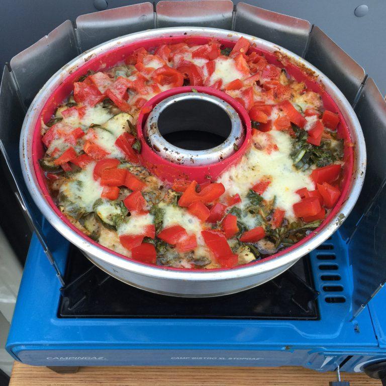 Gemüse mit Parmesan im Omnia