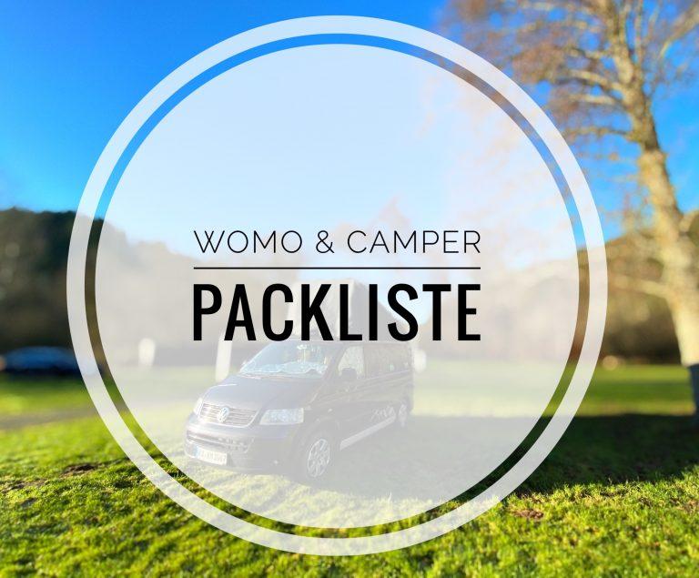 WohnMobil, Wohnwagen, Bulli.. Packliste.