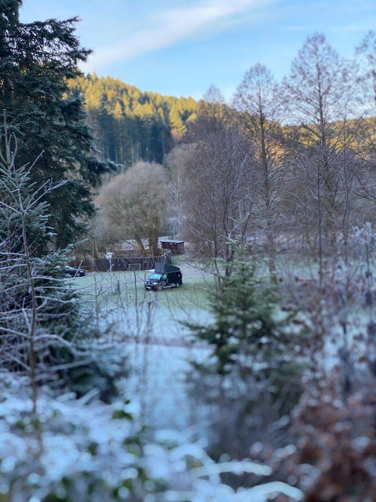 Altensteig, Campingplatz im Schwarzwald.